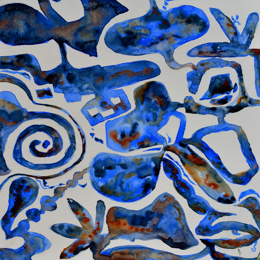 Tangled Up In Blue Painting