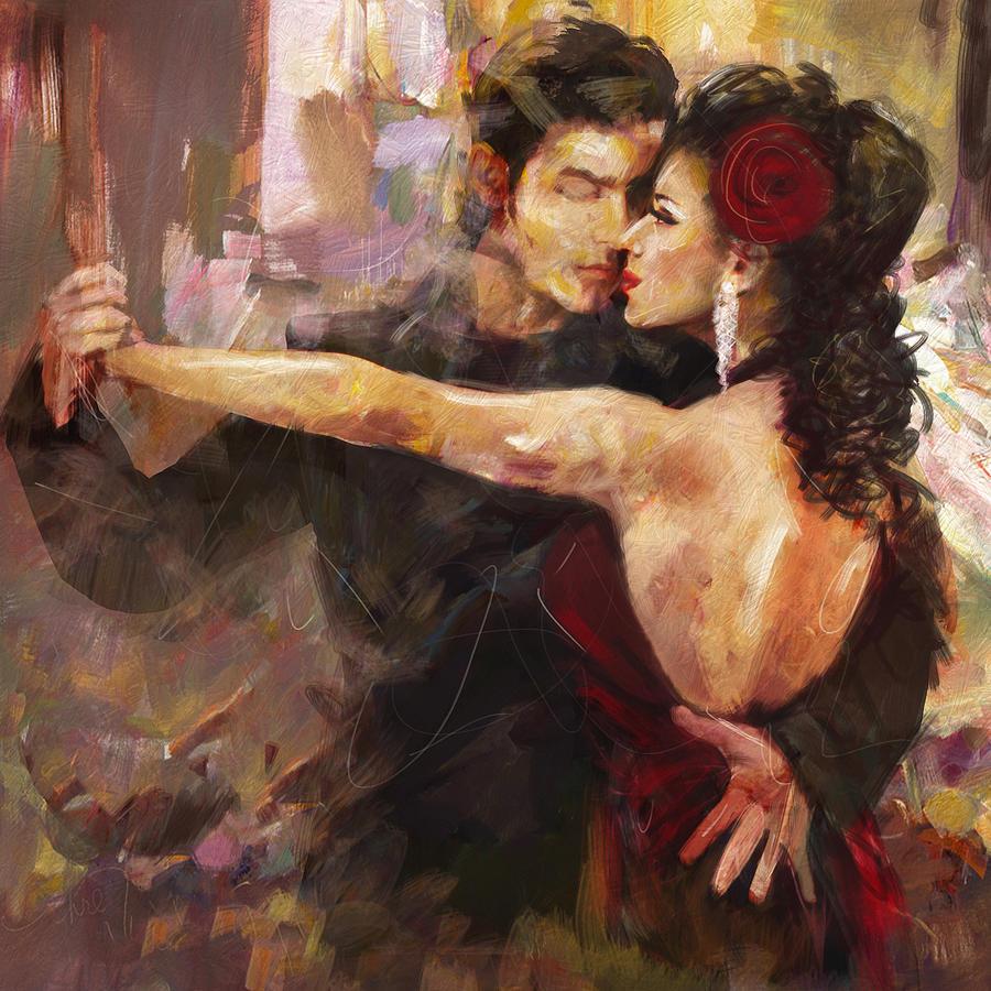 Tango 2 Painting By Mahnoor Shah