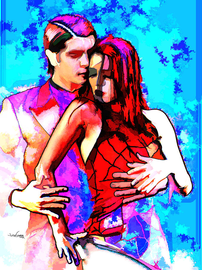 Tango Argentino - Love And Passion Mixed Media  - Tango Argentino - Love And Passion Fine Art Print