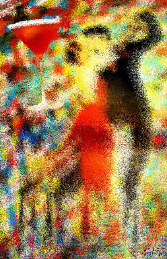 Tango As The Sunset Painting - Tango As The Sunset by Kenal Louis