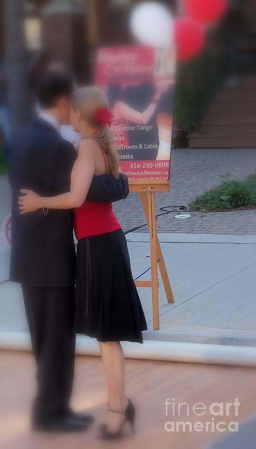 Street Event Photograph - Tango Dancing On The Street by Lingfai Leung