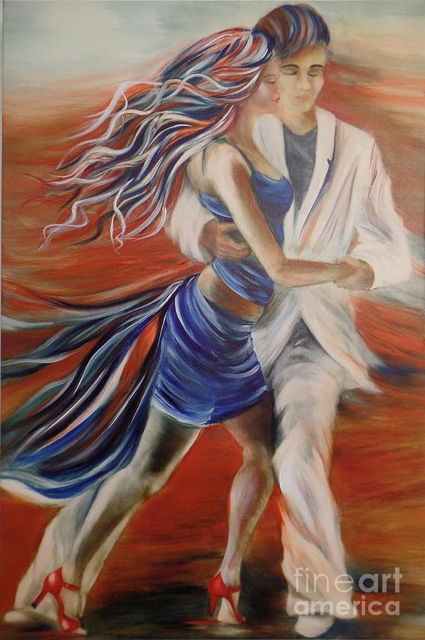 Tango Whirl Wind Painting