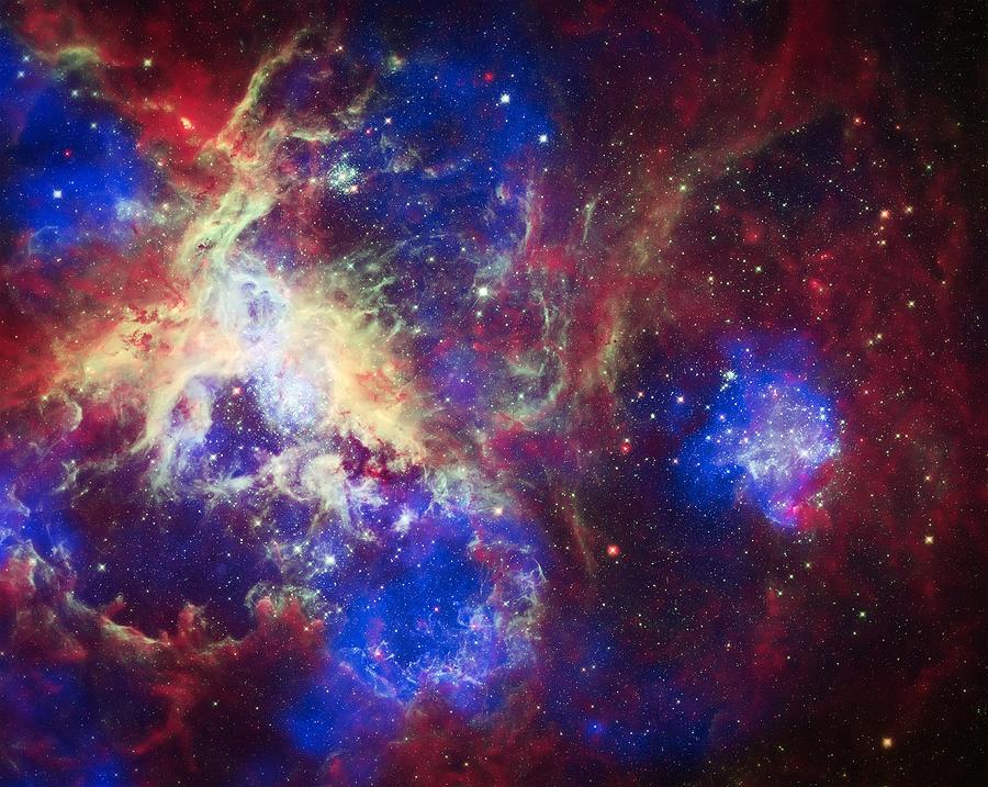 Tarantula Nebula Photograph - Tarantula Nebula 6  by The  Vault - Jennifer Rondinelli Reilly