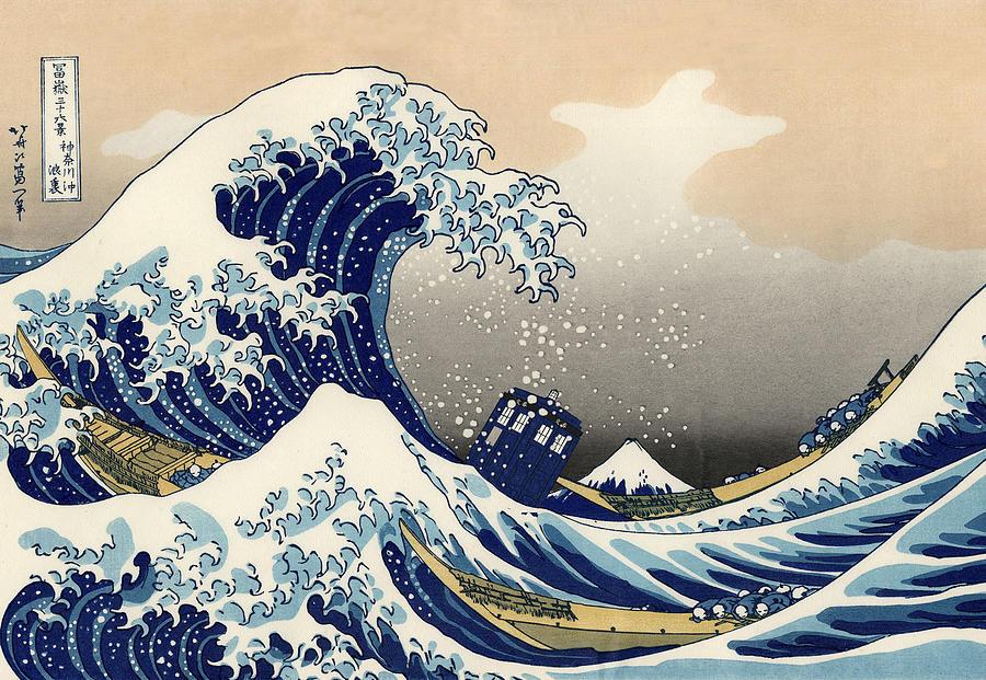 Tardis V Katsushika Hokusai Painting