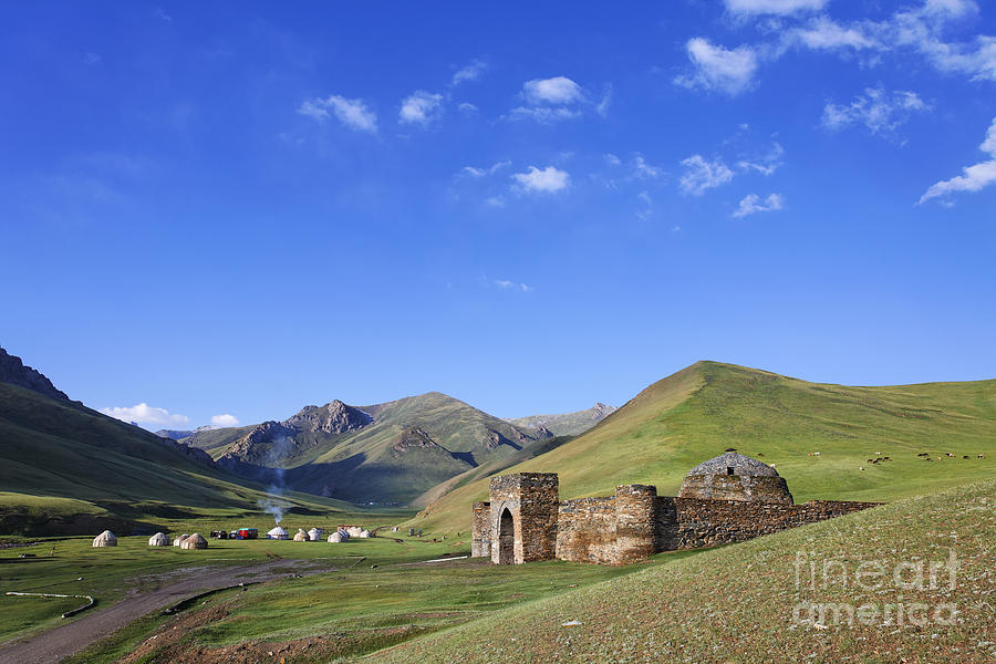 Tash Rabat Caravanserai In The Tash Rabat Valley Of Kyrgyzstan  Photograph  - Tash Rabat Caravanserai In The Tash Rabat Valley Of Kyrgyzstan  Fine Art Print