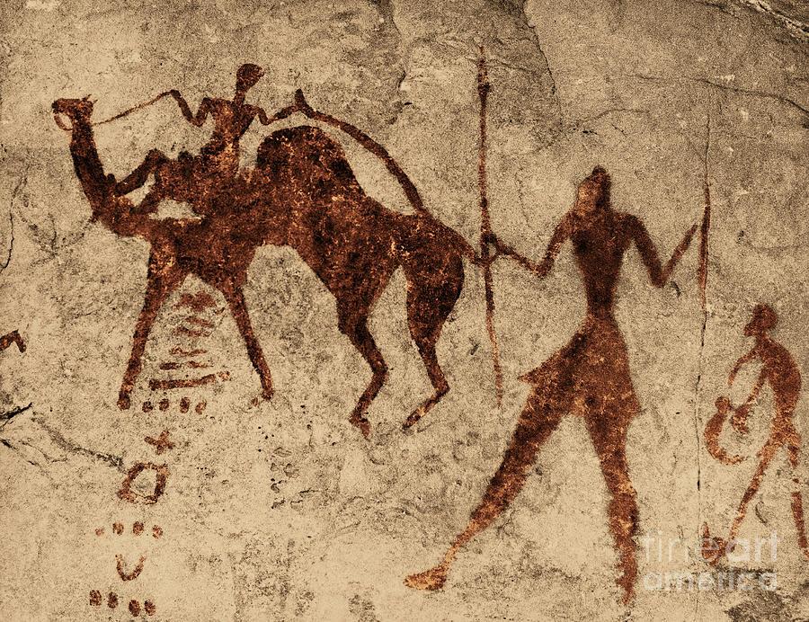 Tassili Najjer Rock Painting Algeria Photograph