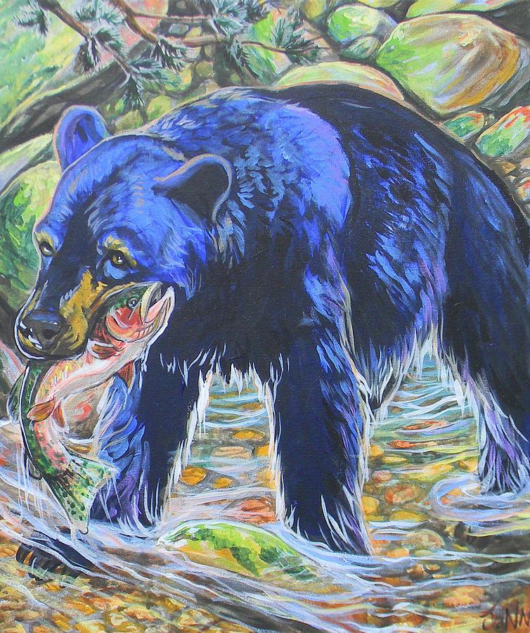 Bear Painting - Taste The Rainbow by Jenn Cunningham