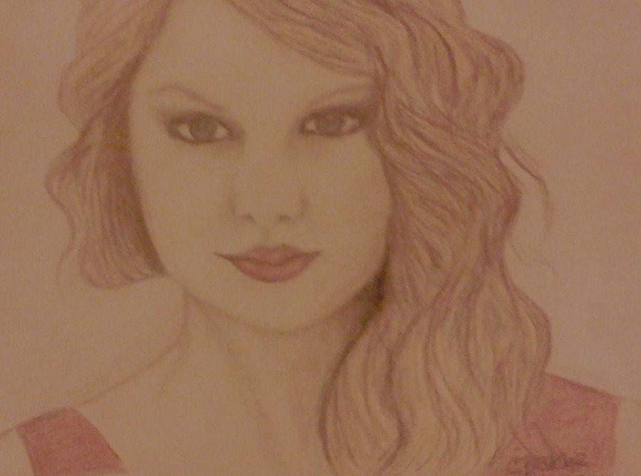 Taylor Swift Drawing  - Taylor Swift Fine Art Print