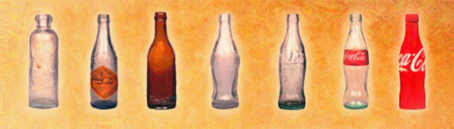 Te Evolution Of The Bottle Painting  - Te Evolution Of The Bottle Fine Art Print