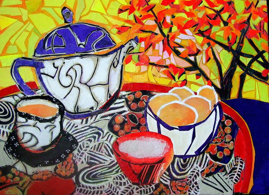Tea And Eggs  Mixed Media