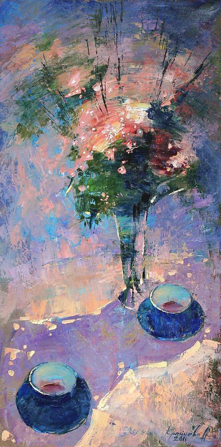 Tea Ceremony Painting - Tea Ceremony by Anastasija Kraineva