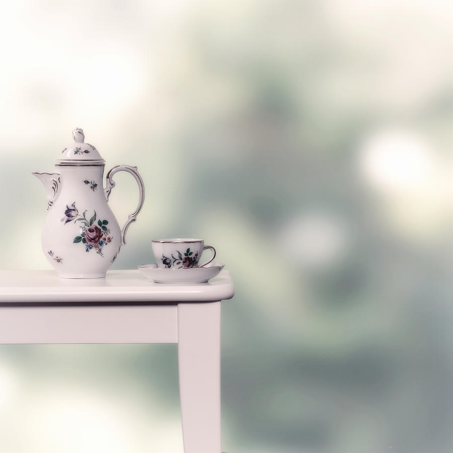 Tea Cup And Pot Photograph