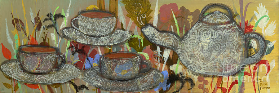Tea For Three Painting  - Tea For Three Fine Art Print