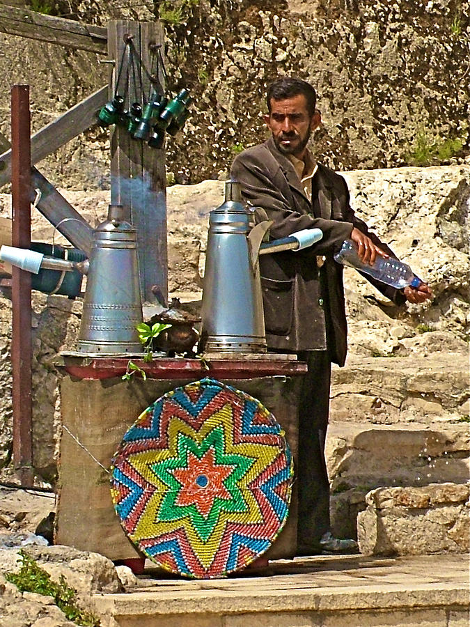 Tea Maker By Ajlun Castle In Jordan Photograph