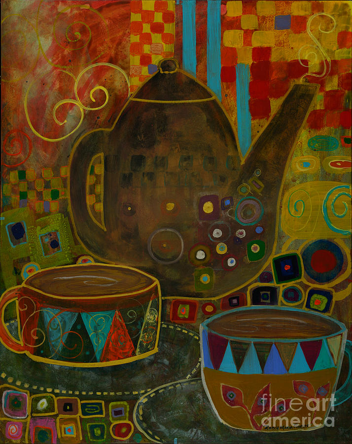 Tea Party With Klimt Painting