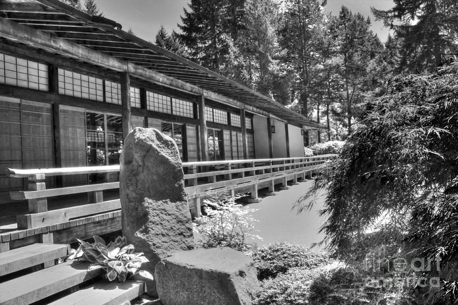 Tea Room At The Japanese Garden Photograph  - Tea Room At The Japanese Garden Fine Art Print
