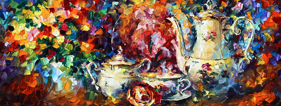 Afremov Painting - Tea Time 2 by Leonid Afremov