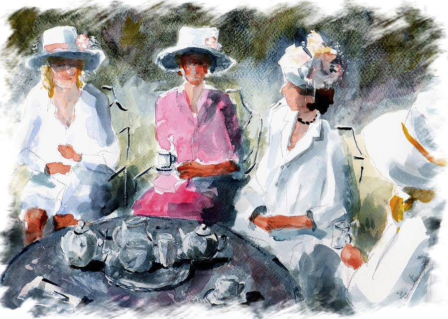 Tea With The Duchess Painting  - Tea With The Duchess Fine Art Print