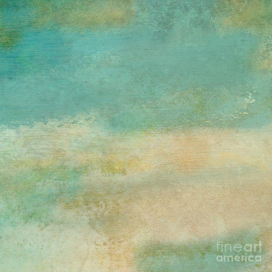 The Texture Of Teal And Turquoise: Teal Aqua Grunge Texture Digital Art