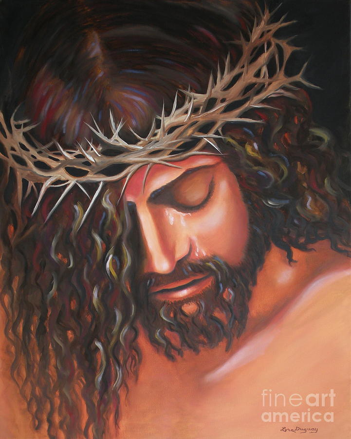 Tears From The Crown Of Thorns Painting  - Tears From The Crown Of Thorns Fine Art Print