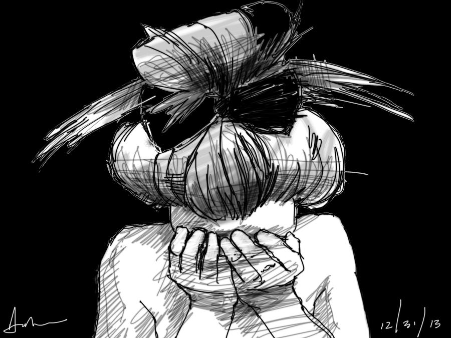 Crying Drawing - Tears by H James Hoff