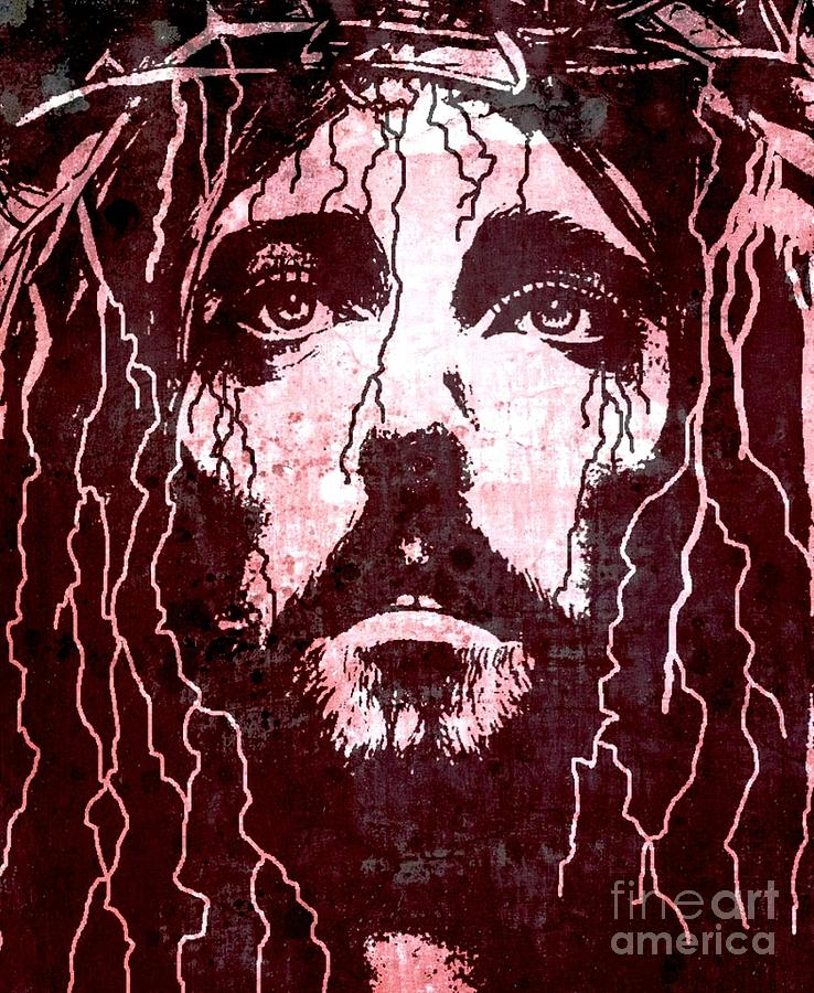 Tears Of Jesus Painting  - Tears Of Jesus Fine Art Print