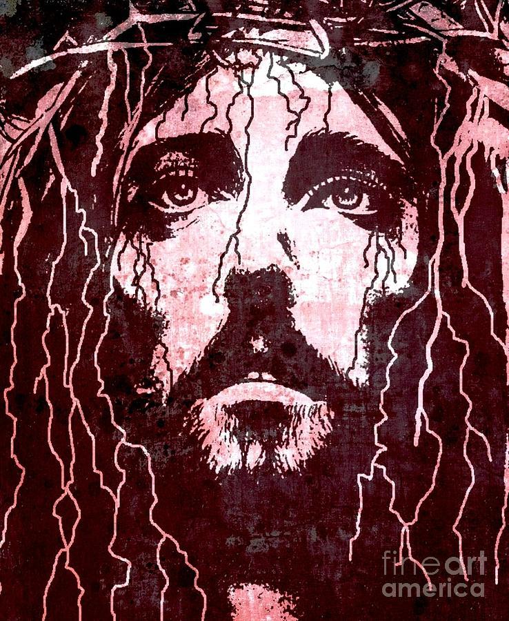 Jesus Painting - Tears Of Jesus by Mike Grubb