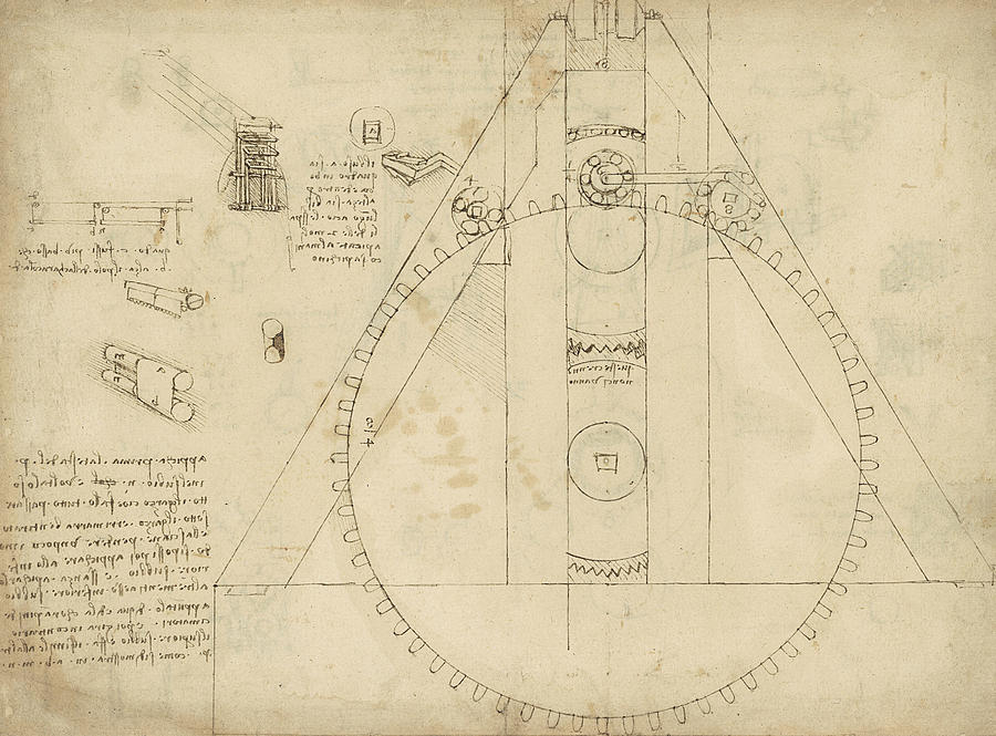 Teaseling Machine From Atlantic Codex Drawing