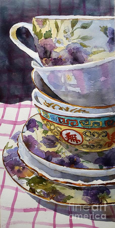 Still Life Painting - Teatime by Marisa Gabetta