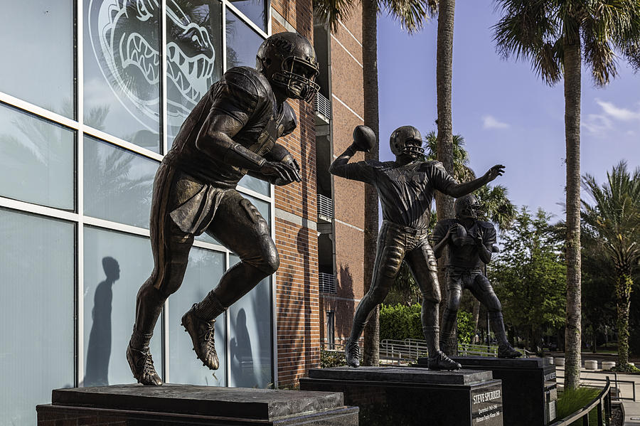 Tebow Spurrier And Wuerffel Uf Heisman Winners Photograph  - Tebow Spurrier And Wuerffel Uf Heisman Winners Fine Art Print