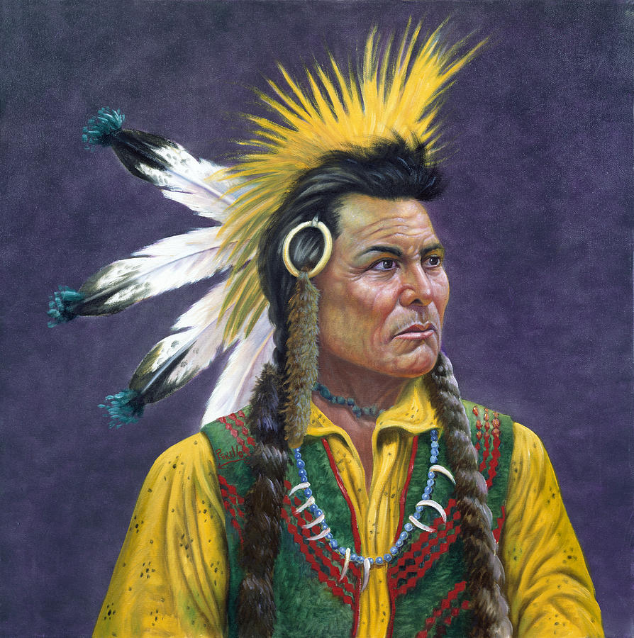 Tecumseh Painting by Gregory Perillo