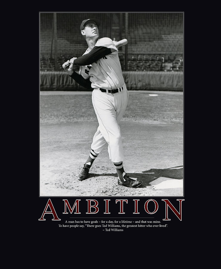 Ted Williams Ambition Photograph