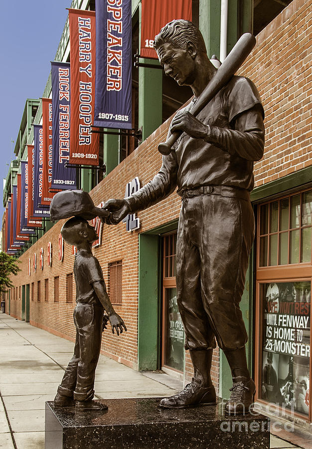 Ted Williams Statue Photograph  - Ted Williams Statue Fine Art Print