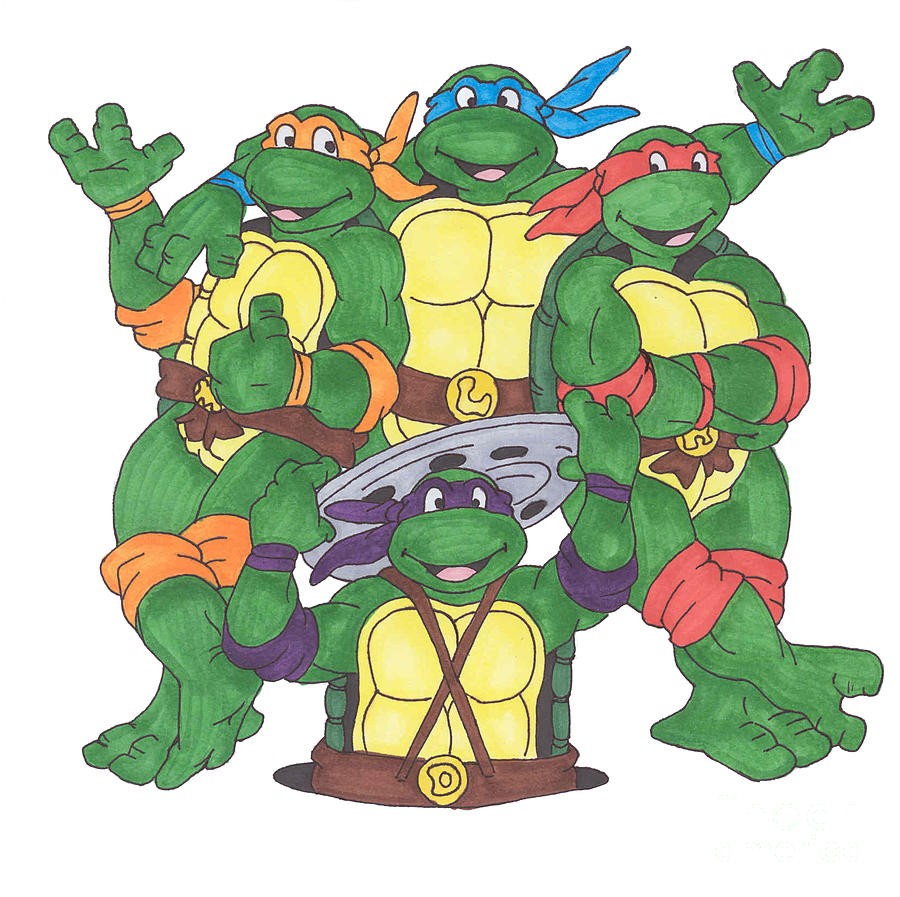 Teenage Mutant Ninja Turtles  Painting  - Teenage Mutant Ninja Turtles  Fine Art Print