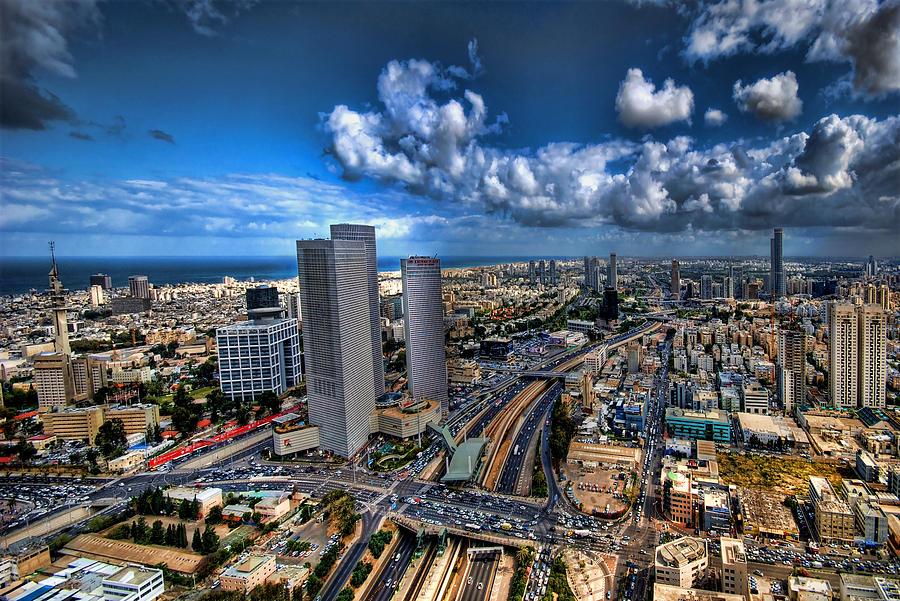 Israel Photograph - Tel Aviv Center Skyline by Ron Shoshani