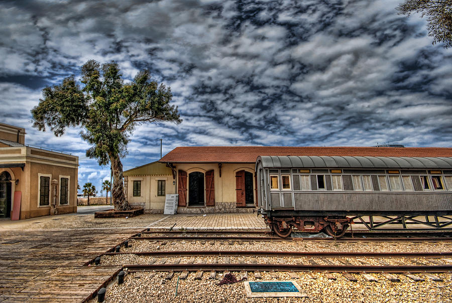 Israel Photograph - Tel Aviv Old Railway Station by Ron Shoshani