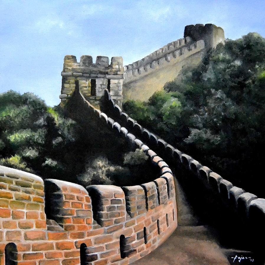 Tembok Besar China Painting by M Bahrul Ulum Fajri