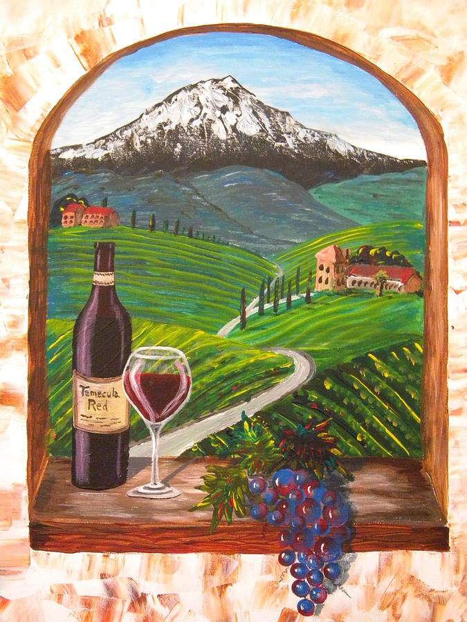 Temecula red painting by eric johansen for Paint and wine temecula