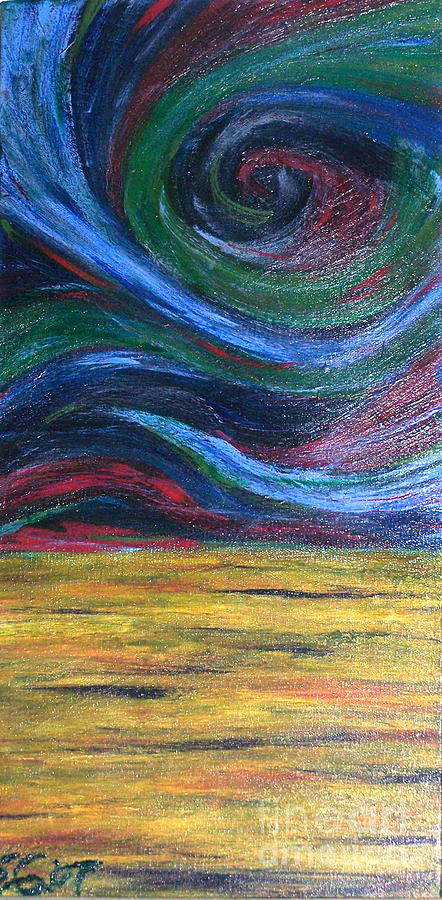 Swirl Painting - Tempest by Scott Gearheart