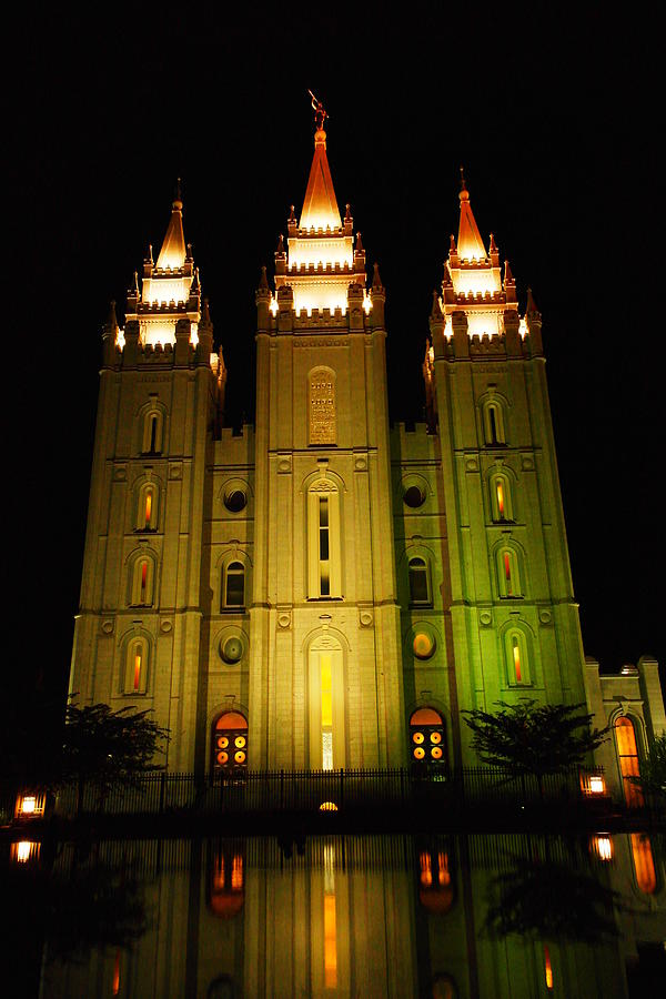 Temple In Salt Lake City Photograph