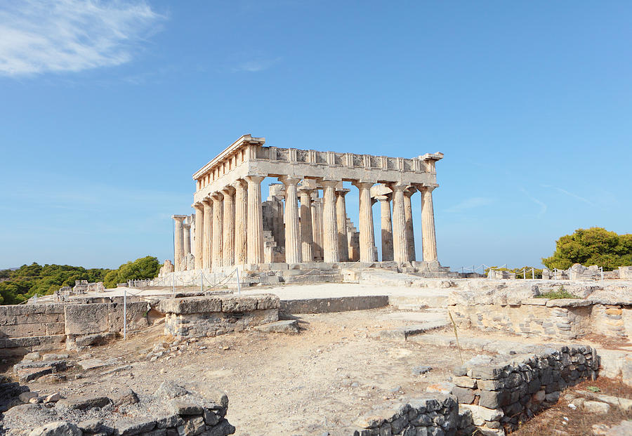 Temple Of Aphaia In Aegina Photograph by Paul Cowan