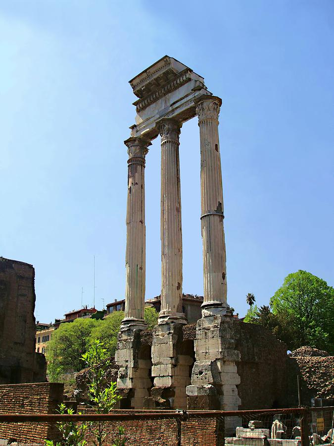 Temple Of Castor And Pollux Photograph  - Temple Of Castor And Pollux Fine Art Print