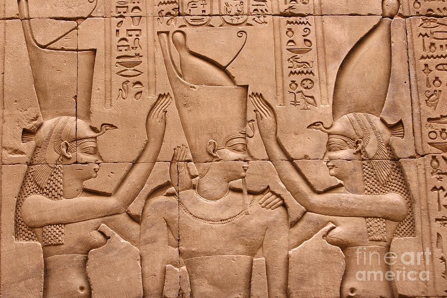 Temple Of Horus Relief Photograph