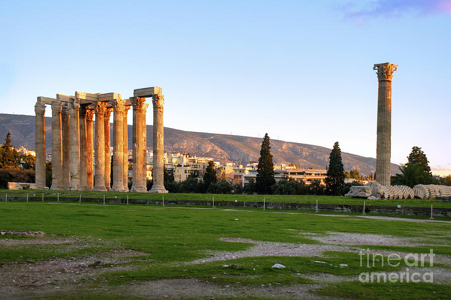 Temple Of Olympian Zeus. Athens Photograph  - Temple Of Olympian Zeus. Athens Fine Art Print