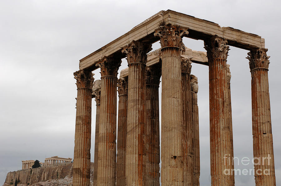 Temple Of Olympian Zeus Photograph