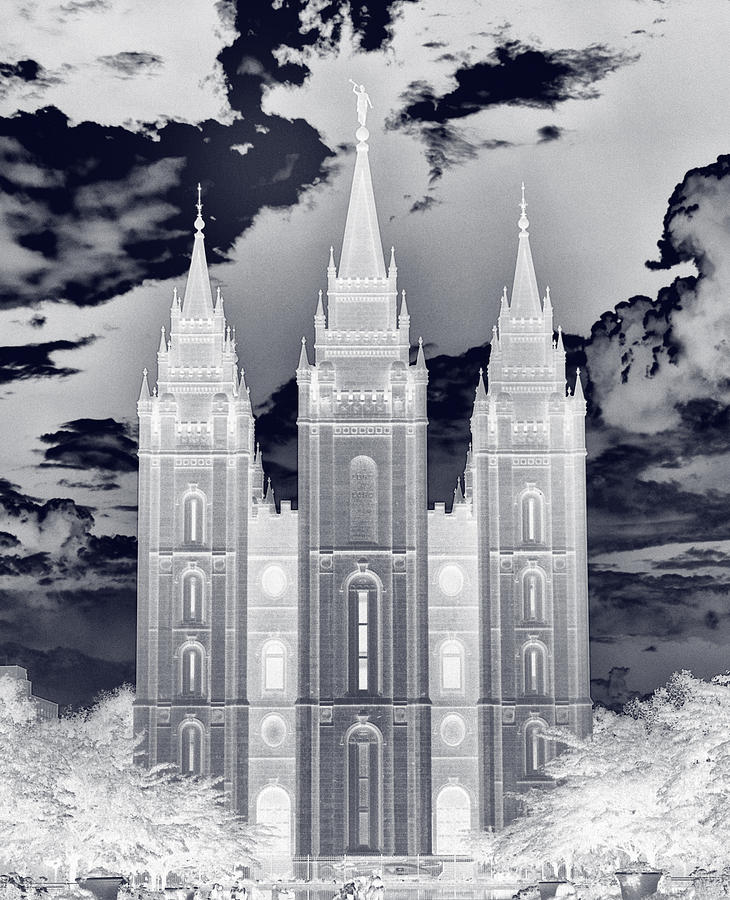 Temple Square Nightmare Photograph  - Temple Square Nightmare Fine Art Print