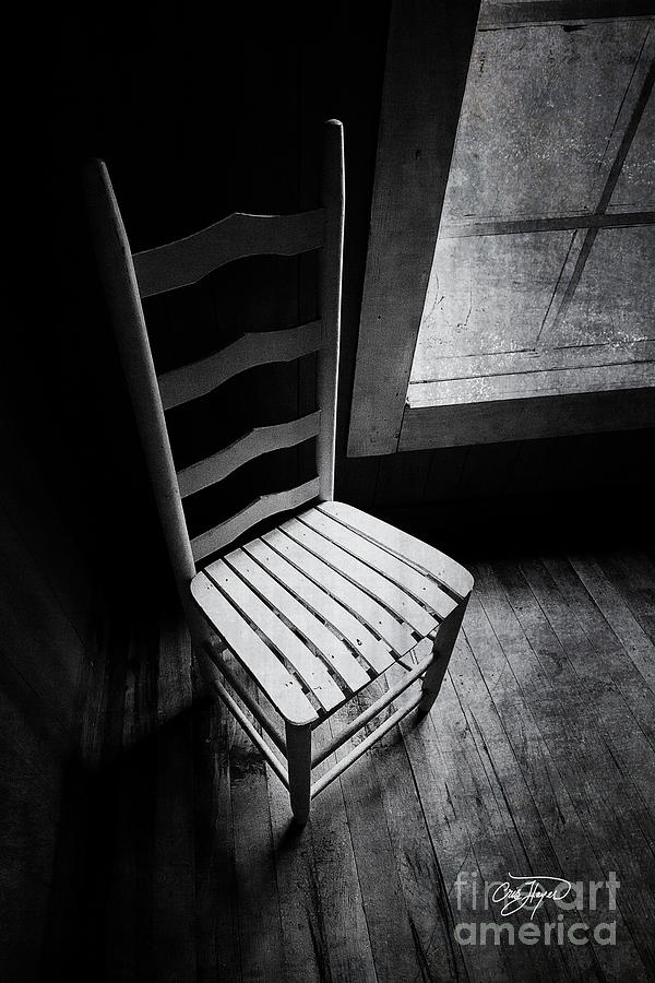 Old Chair Photograph - Ten Feet Tall by Cris Hayes