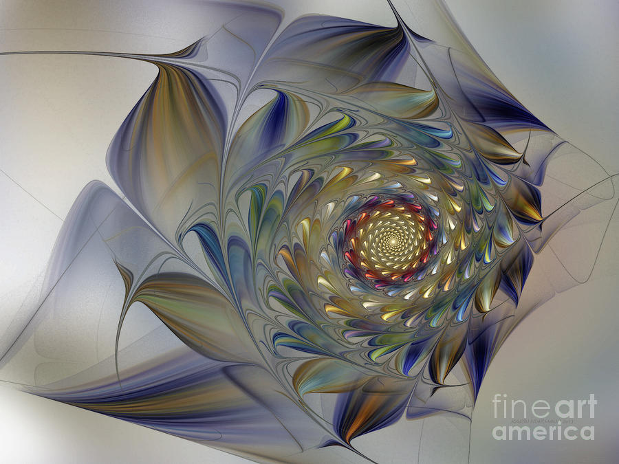 Tender Flowers Dream-fractal Art Digital Art  - Tender Flowers Dream-fractal Art Fine Art Print