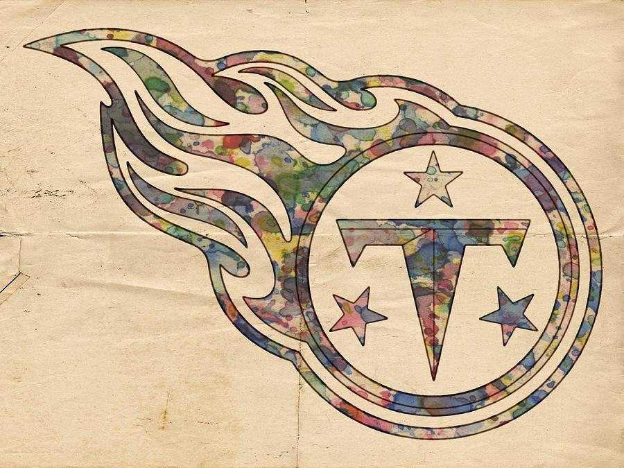 Tennessee Titans Painting - Tennessee Titans Poster Art by Florian Rodarte