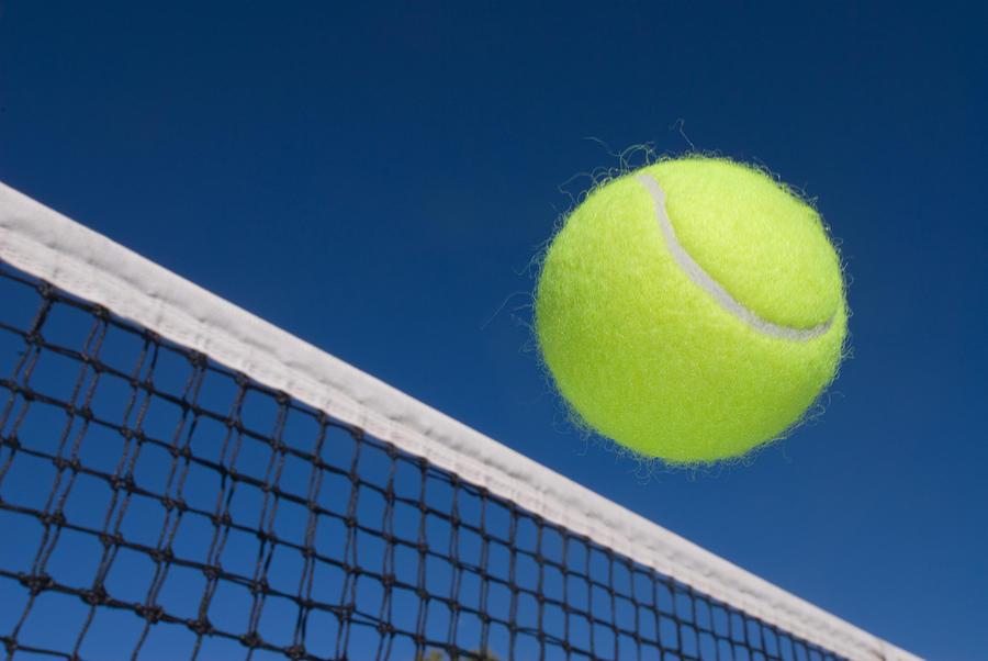 Tennis Ball And Net Photograph